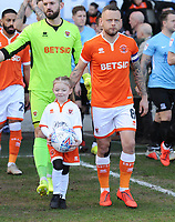 Blackpool's Jay Spearing leads his side out<br /> <br /> Photographer Kevin Barnes/CameraSport<br /> <br /> The EFL Sky Bet League One - Blackpool v Southend United - Saturday 9th March 2019 - Bloomfield Road - Blackpool<br /> <br /> World Copyright © 2019 CameraSport. All rights reserved. 43 Linden Ave. Countesthorpe. Leicester. England. LE8 5PG - Tel: +44 (0) 116 277 4147 - admin@camerasport.com - www.camerasport.com