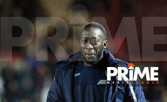 Toumani Diagouraga of Leeds United is named on the bench a day after joining from Brentford during the Sky Bet Championship match between Brentford and Leeds United at Griffin Park, London, England on 26 January 2016. Photo by Andy Rowland / PRiME Media Images.