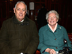 Dan and Anne McCann pictured at the Seminary Christmas concert in St Peter's Church.
