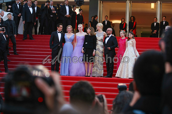 "24 May 2017 - Cannes, France - Angourie Rice, Colin Farrell, Nicole Kidman, director Sophia Cop. ""The Beguiled"" Premiere - The 70th Annual Cannes Film Festival. Photo Credit: Georg Wenzel/face to face/AdMedia"