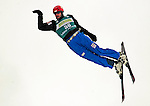 16 January 2009: Christian Haechler from Switzerland performs aerial acrobatics during the FIS Freestyle World Cup warm-ups at the Olympic Ski Jumping Facility in Lake Placid, NY, USA. Mandatory Photo Credit: Ed Wolfstein Photo. Contact: Ed Wolfstein, Burlington, Vermont, USA. Telephone 802-864-8334. e-mail: ed@wolfstein.net
