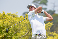 Zach MURRAY (AUS) watches his tee shot on 3 during Rd 2 of the Asia-Pacific Amateur Championship, Sentosa Golf Club, Singapore. 10/5/2018.<br /> Picture: Golffile | Ken Murray<br /> <br /> <br /> All photo usage must carry mandatory copyright credit (© Golffile | Ken Murray)