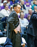 University at Albany men's basketball defeats Maine at the  SEFCU Arena, Feb. 24, 2018.  Maine Coach Bob Walsh. (Bruce Dudek / Eclipse Sportswire)