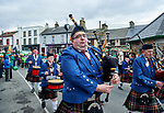 The Tulla Pipe Band performing at the St Patrick's Day parade in Scariff. Photograph by John Kelly.