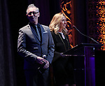 Alan Cumming and Amanda Green on stage at the Dramatists Guild Foundation 2018 dgf: gala at the Manhattan Center Ballroom on November 12, 2018 in New York City.