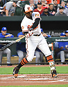 Baltimore Orioles Adam Jones (10) during a game against the Toronto Blue Jays on April 5, 2017 at Oriole Park at Camden Yards in Baltimore, MD. The Orioles beat the Blue Jays 3-1.