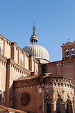 ITALY, Venice. View of the Basilica dei Santi Giovanni e Paolo located in the Campo Santi Giovanni e Paolo in the Castello district.  Castello is the largest of the six sestieri of Venice.