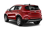 Car pictures of rear three quarter view of a 2018 KIA Sportage EX 5 Door SUV angular rear