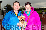 Francis and laura Brosnan with their dog Cassie at the Tralee & District Canine Dog Show at An Riocht AC Grounds on Saturday morning.