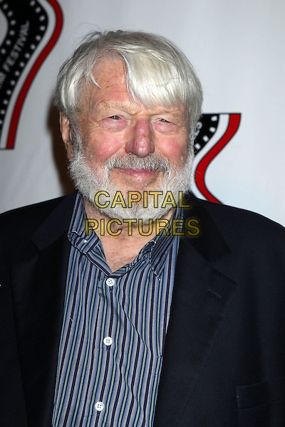 Theodor Bikel<br /> 13th annual Polish film festival at American Cinematheque's Egyptian Theatre, Hollywood, California, USA.<br /> 9th October 2012<br /> headshot portrait blue shirt black suit jacket beard facial hair <br /> CAP/ADM/RE<br /> &copy;Russ Elliot/AdMedia/Capital Pictures