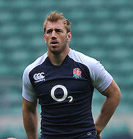 Twickenham, England. Chris Robshaw of England during the England captains run for the QBE Internationals England v Australia at Twickenham Stadium on 17 November. Twickenham, England, November 16. 2012.