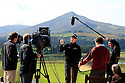 European Tour Productions with Padraig Harrington at the (New) Dun Laoghaire Golf Club shooting a Golf Etiquette DVD for the R&A.©PHIL INGLIS