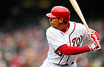31 March 2011: Washington Nationals outfielder Rick Ankiel at bat during Opening Day action against the Atlanta Braves at Nationals Park in Washington, District of Columbia. The Braves shut out the Nationals 2-0 to start off the 2011 Major League Baseball season. Mandatory Credit: Ed Wolfstein Photo