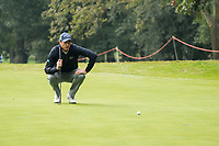 Nicolas Colsaerts (BEL) in action on the 1st hole during the third round of the 76 Open D'Italia, Olgiata Golf Club, Rome, Rome, Italy. 12/10/19.<br /> Picture Stefano Di Maria / Golffile.ie<br /> <br /> All photo usage must carry mandatory copyright credit (© Golffile | Stefano Di Maria)