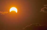Solar eclipse, Rio Grande Valley,Texas, USA