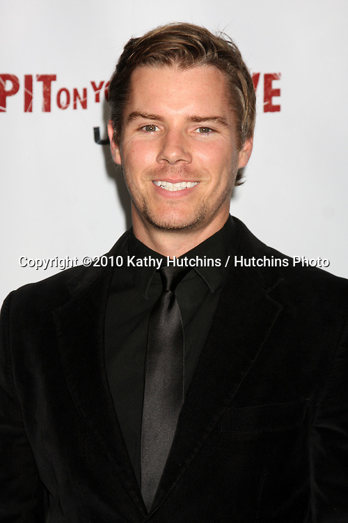 """LOS ANGELES - SEP 29:  Josh Cowdery arrives at the """"I Spit on Your Grave"""" Premiere at Mann Chinese 6 Theaters - Hollywood & Highland on September 29, 2010 in Los Angeles, CA"""