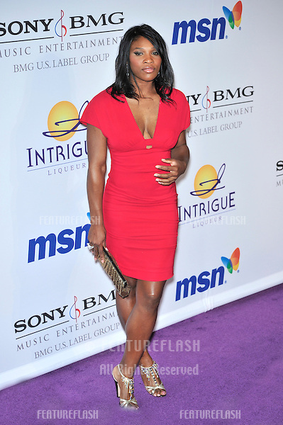 Serena Williams at music mogul Clive Davis' annual pre-Grammy party at the Beverly Hilton Hotel..February 9, 2008  Los Angeles, CA.Picture: Paul Smith / Featureflash