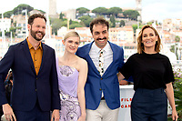 Kyle Marvin, Gayle Rankin, Michael Angelo Covino and Judith Godreche at the 'The Climb' photocall during the 72nd Cannes Film Festival at the Palais des Festivals on May 17, 2019 in Cannes, France