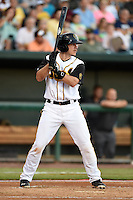 Jacksonville Suns catcher J.T. Realmuto (11) at bat during game three of the Southern League Championship Series against the Chattanooga Lookouts on September 12, 2014 at Bragan Field in Jacksonville, Florida.  Jacksonville defeated Chattanooga 6-1 to sweep three games to none.  (Mike Janes/Four Seam Images)