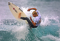 Mick Fanning (AUS)..Andy Irons (HAW) defeat Sunny Garcia (HAW) in an all Hawaiian final of the annual Rip Curl Pro held at Bells Beach, Torquay, Victoria, Australia, over the Easter holiday break. Irons  jumped to the #1 spot on the world rankings after his win. (Photo: Joliphotos.com)