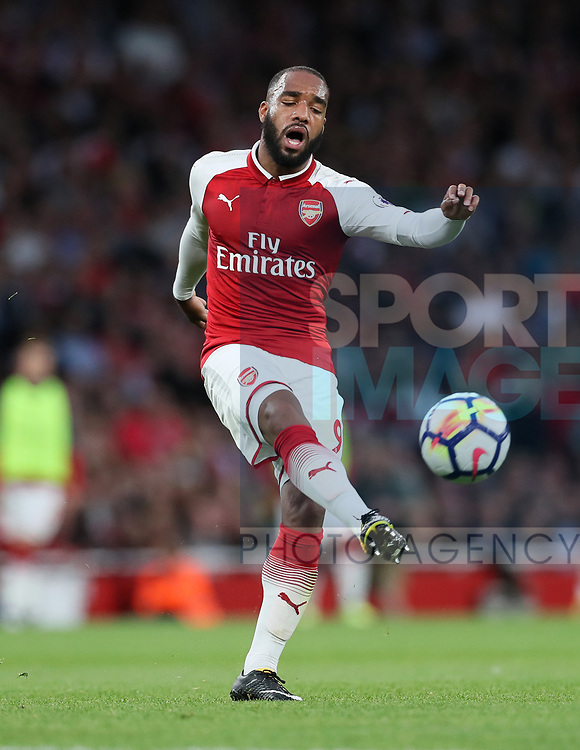 Arsenal's Alexandre Lacazette in action during the premier league match at the Emirates Stadium, London. Picture date 11th August 2017. Picture credit should read: David Klein/Sportimage