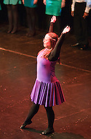 """Katherine Morland dancing to """"The Flame of Hope"""".  Special Olympics Surrey put on a show,   """"Beyond the Stars"""", at the Rose Theatre, Kingston upon Thames to raise money for the  SOGB team.  The Special Olympics are for athletes with learning disabilities."""