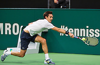 12-02-14, Netherlands,Rotterdam,Ahoy, ABNAMROWTT,Edouard Roger-Vasselin(FRA) in his match against Andy Murray(GRB) i<br /> Photo:Tennisimages/Henk Koster