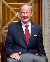 "United States Senator Tom Carper (Democrat of Delaware) arrives to hear testimony before the US Senate Committee Homeland Security and Governmental Affairs on ""Threats to the Homeland"" on Capitol Hill in Washington, DC on Wednesday, September 27, 2017. Photo Credit: Ron Sachs/CNP/AdMedia"