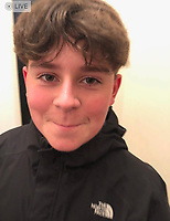 Pictured: Family handout picture of Carson Price.<br />Re: 13-year-old Carson Price, has died after being found unconscious in Ystrad Mynach Park, Caerphilly County, at about 7.20pm on Friday 12 April.<br />The teen was taken to University Hospital of Wales in Cardiff where he was pronounced dead.