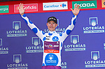 Angel Madrazo Ruiz (ESP) Burgos-BH wins Stage 5 and retains the mountains Polka Dot Jersey of La Vuelta 2019 running 170.7km from L'Eliana to Observatorio Astrofisico de Javalambre, Spain. 28th August 2019.<br /> Picture: Luis Angel Gomez/Photogomezsport | Cyclefile<br /> <br /> All photos usage must carry mandatory copyright credit (© Cyclefile | Luis Angel Gomez/Photogomezsport)