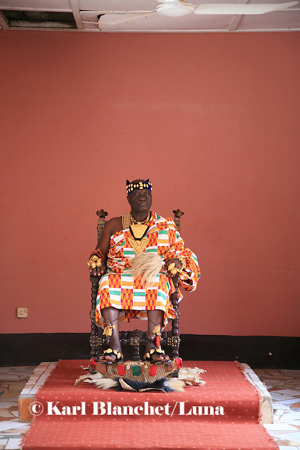 The Chief of Bechem in the Brong Ahafo region in his palace