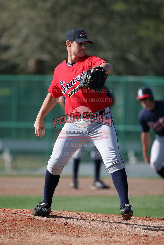 Atlanta Braves minor leaguer Ryne Reynoso during Spring Training at Disney's Wide World of Sports on March 15, 2007 in Orlando, Florida.  (Mike Janes/Four Seam Images)