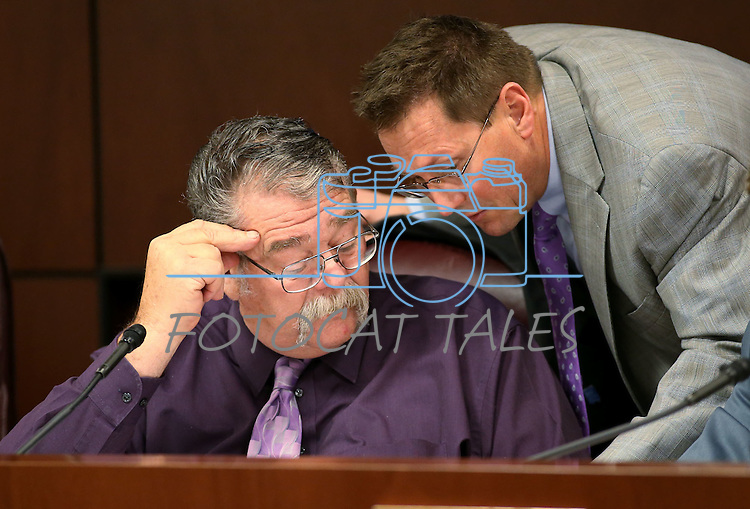 Nevada Sen. Pete Goicoechea, R-Eureka, works in committee at the Legislative Building in Carson City, Nev., on Tuesday, April 28, 2015. <br /> Photo by Cathleen Allison