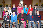Boheshill NS pupils who was confirmed in Glenbeigh on Tuesday front row l-r: Maurice O'Connor, Ronan Foley, Darragh O'Shea, Michael O'Sullivan. Back row: Marie O'Connell, Amelda Taylor, Anna Breen, Eileen Burns, Adrian O'Connor, Aisling Foley, Patrick Scannell.