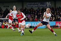 Danielle van de Donk of Arsenal goes close to a goal during Arsenal Women vs Liverpool Women, Barclays FA Women's Super League Football at Meadow Park on 24th November 2019
