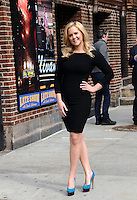 NEW YORK, NY - APRIL 1,2014: Amy Schumer  visits The Late Show With David Letterman at the Ed Sullivan Theater, New York City ,April 1, 2014 in New York City.  HP/Starlitepics.