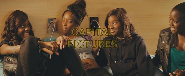 Assa Sylla, Karidja Toure, Lindsay Karamoh, Marietou Toure<br /> in Girlhood (2014) <br /> (Bande de filles)<br /> *Filmstill - Editorial Use Only*<br /> CAP/NFS<br /> Image supplied by Capital Pictures