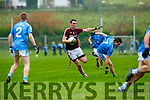 Thomas Curran Dromid Pearse goes through the  Firies defence during the Junior County Championship final in Killorglin on Saturday