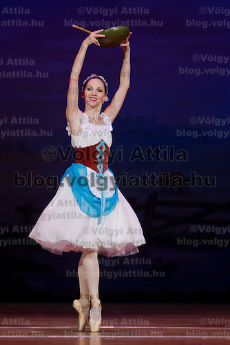 Dancer Adrienn Pap performs as Lise in the dance piece La Fille Mal Gardee or The Wayward Daughter Choreographed by Sir Frederick Ashton presented by the Hungarian National Ballet Company in Hungary State Opera House,  Budapest, Hungary, Tuesday, 23. November 2010. ATTILA VOLGYI