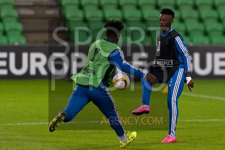 Voetbal: 16-9-2015,UEFA, Fc Groningen vs Olympique de Marseille,training,(R) Georges-Kévin N'Koudou of Olympique de Marseille