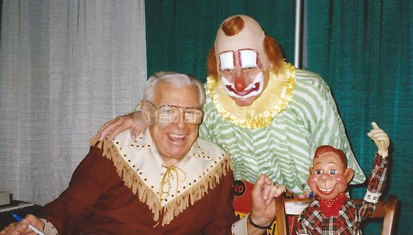 Buffalo Bob Smith, Clarabell the Clown Howdy Doody 1995<br /> Photo to By John Barrett/PHOTOlink/MediaPunch
