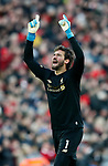 Alisson Becker of Liverpool during the Premier League match at Anfield, Liverpool. Picture date: 30th November 2019. Picture credit should read: Simon Bellis/Sportimage
