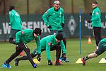 11.02.2020, Trainingsgelaende am wohninvest WESERSTADION,, Bremen, GER, 1.FBL, Werder Bremen Training, im Bild<br /> <br /> Johannes Eggestein (Werder Bremen #24)<br /> Christian Groß / Gross (Werder Bremen #36)<br /> Claudio Pizarro (Werder Bremen #14)<br /> <br /> Foto © nordphoto / Kokenge