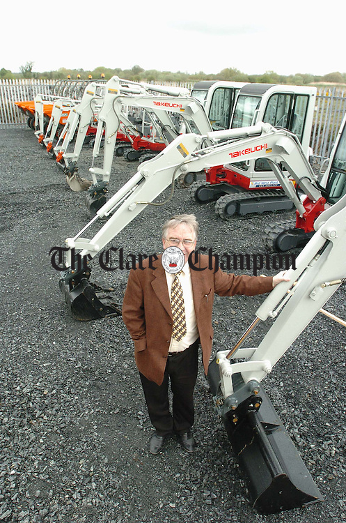 Oliver O Connell, managing Director of Mid West Plant Hire. Photograph by John Kelly.