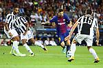 UEFA Champions League 2017/2018 - Matchday 1.<br /> FC Barcelona vs Juventus Football Club: 3-0.<br /> Medhi Benatia, Alex Sandro, Lionel Messi &amp; Andrea Barzagli.