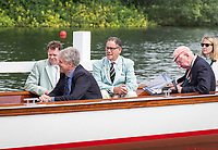 Henley Royal Regatta, Henley on Thames, Oxfordshire, 28 June - 2 July 2017.  Friday  10:05:02   30/06/2017  [Mandatory Credit/Intersport Images]<br /> <br /> Rowing, Henley Reach, Henley Royal Regatta.<br /> <br /> Official Timekeepers on the back of the umpires launch