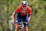 Dylan Teuns (BEL) Bahrain-Merida approaches the finish line atop La Planche des Belles Filles at the end of Stage 6 of the 2019 Tour de France running 160.5km from Mulhouse to La Planche des Belles Filles, France. 11th July 2019.<br /> Picture: Serge Waldbillig   Cyclefile<br /> All photos usage must carry mandatory copyright credit (© Cyclefile   Serge Waldbillig)