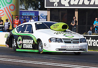 Feb. 22, 2013; Chandler, AZ, USA; NHRA pro stock driver Deric Kramer during qualifying for the Arizona Nationals at Firebird International Raceway. Mandatory Credit: Mark J. Rebilas-