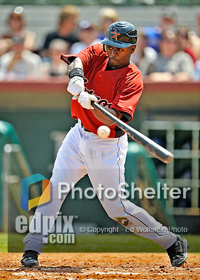 16 March 2008: Houston Astros outfielder Michael Bourn in action during a Spring Training game against a New York Mets split squad at Osceola County Stadium, in Kissimmee, Florida...Mandatory Photo Credit: Ed Wolfstein Photo