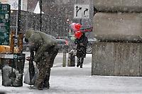 Snow in the city, Manhattan, NY.